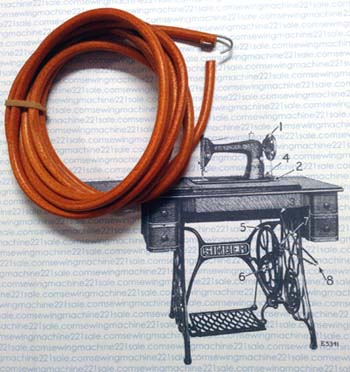 singer treadle sewing machine belt replacement