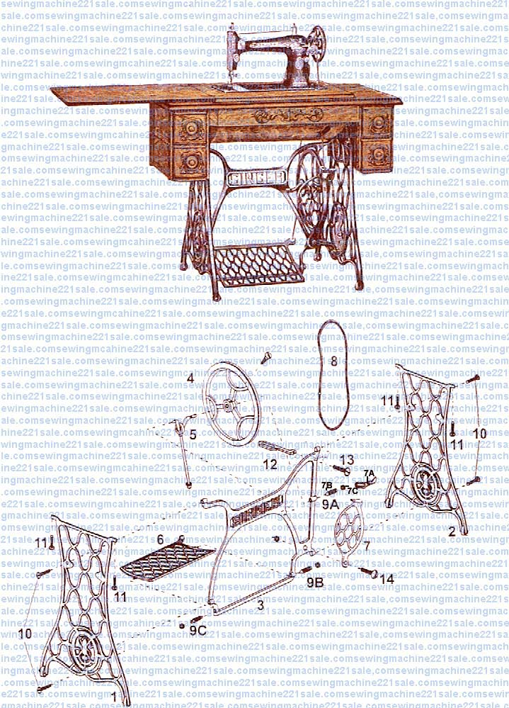 Singer Treadle Stand Parts on